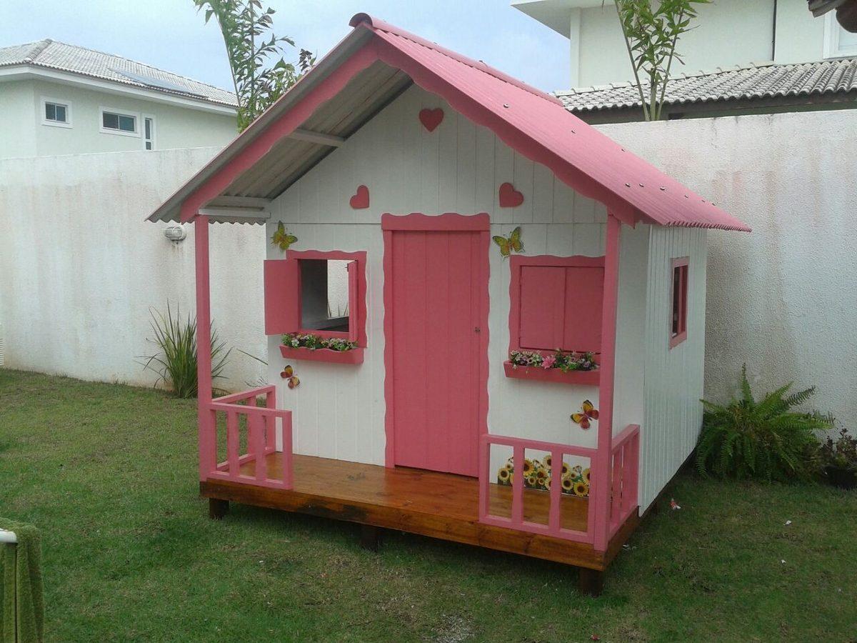 Casa casinha de crian as bonecas fabricada em madeira for Modelo de casa de 4x6