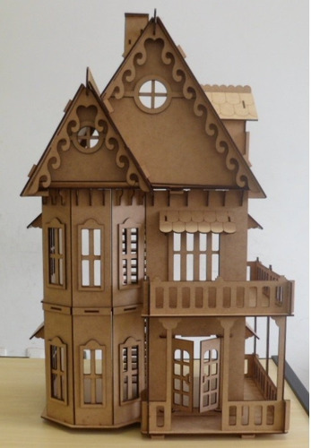 casa casinha mdf bonecas polly barbie pocket pronta entrega