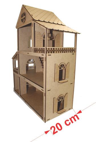 casa casinha p/ boneca polly +27 mini moveis mdf cru top10