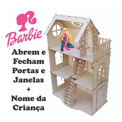 casa casinha para boneca barbie + nome da criança