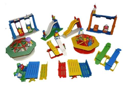 casa casinha parquinho castelo 10 brinquedos com os bonecos