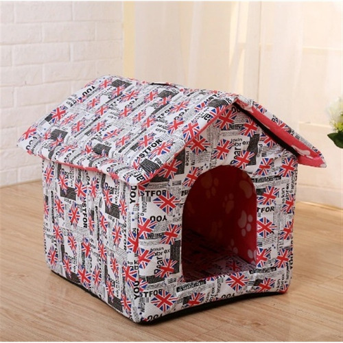 casa casinha pet para caes, cachorro e gatos dobravel cama