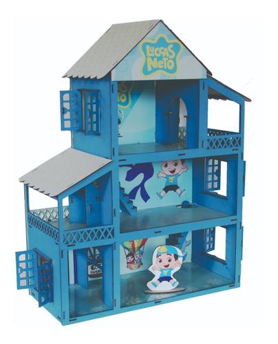 casa casinha tema lucas neto adesivada 44 móveis full