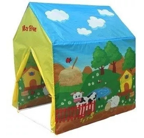casa casita carpa infantil granja juegos niños iplay 8706