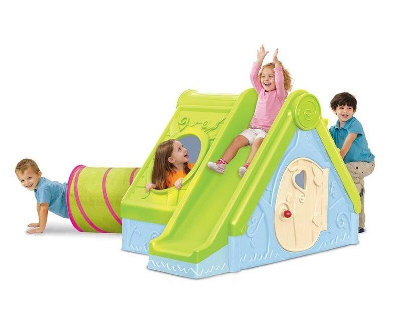 Casa casita con resbaladilla infantil ni os 5 for Oferta casita jardin ninos