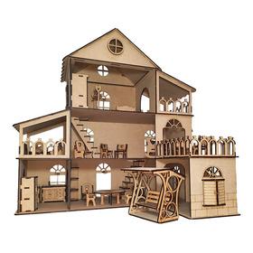 Casa Casita De Muñecas Lol En Fibrofácil + Muebles
