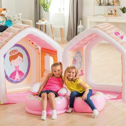 casa casita inflable princesas con sillon y mesa niña intex