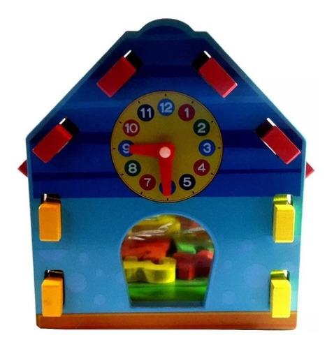 casa casita madera didáctica encastre para armar con numeros