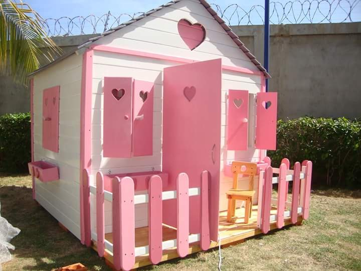 Casa casita mu eca parque infantil ni os ni a juguete madera en mercado libre - Casitas pequenas de madera ...