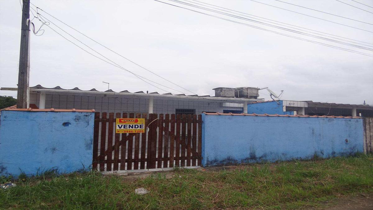 casa com 1 dorm, balneário itaguai, mongaguá - r$ 90 mil, cod: 6590 - v6590