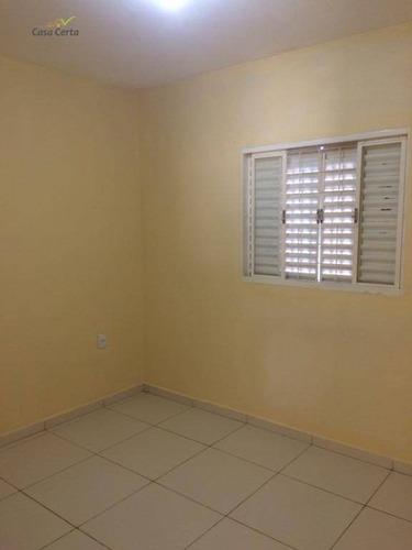 casa com 1 dormitório para alugar, 36 m² por r$ 650/mês - parque dos eucaliptos ii - mogi guaçu/sp - ca1473
