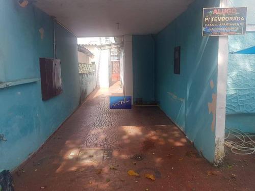 casa com 1 dormitório para alugar por r$ 1.100/mês - vila matilde - são paulo/sp - ca0213