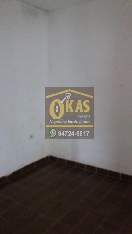 casa com 1 dormitório para alugar por r$ 650/mês - jardim santa lúcia - suzano/sp - ca0367