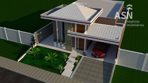 casa com 157 m², 3 qts, 1 suíte, acabamento primoroso, área gourmet, vale 5 - vale dos cristais - macaé - ca0228
