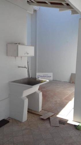 casa com 2 dormitórios +edicula para alugar, 120 m² por r$ 2.300/mês - jardim nossa senhora auxiliadora - campinas/sp - ca2324