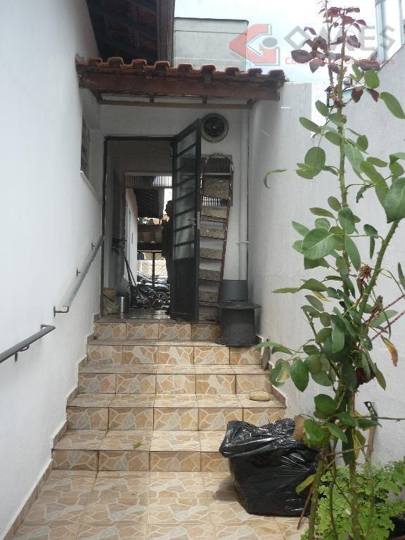 casa com 2 dormitórios para alugar, 100 m² por r$ 2.000,00/mês - jardim três marias - são bernardo do campo/sp - ca0206