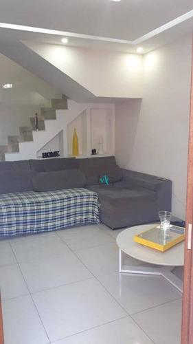 casa com 2 dormitórios para alugar, 110 m² por r$ 2.000/mês - campo grande - rio de janeiro/rj - ca0450