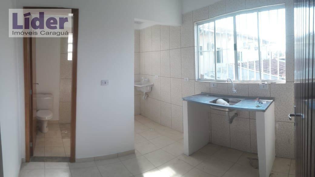 casa com 2 dormitórios para alugar, 45 m² por r$ 1.000,00/mês - caputera - caraguatatuba/sp - ca0520