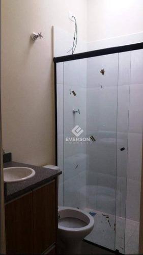 casa com 2 dormitórios para alugar, 55 m² por r$ 1.000,00/mês - jardim anhangüera - rio claro/sp - ca1042