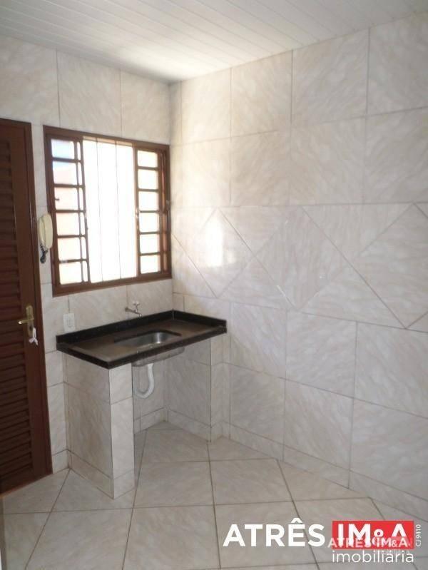 casa com 2 dormitórios para alugar, 60 m² por r$ 700,00 - jardim bela vista - aparecida de goiânia/go - ca0053