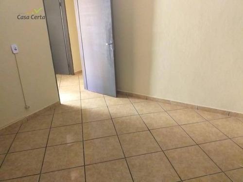 casa com 2 dormitórios para alugar, 70 m² por r$ 750/mês - jardim bandeirantes - mogi guaçu/sp - ca1430