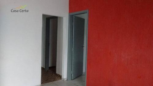 casa com 2 dormitórios para alugar, 80 m² por r$ 1.000/mês - jardim centenário - mogi guaçu/sp - ca1291