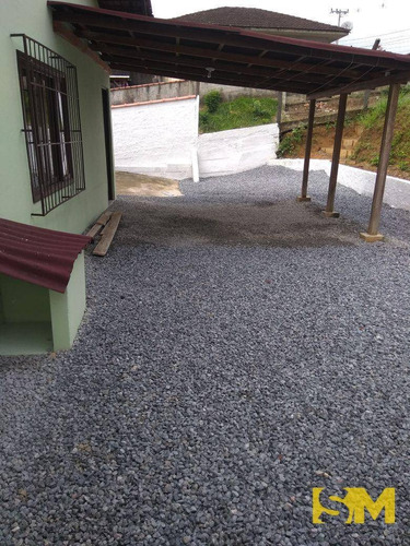 casa com 2 dormitórios para alugar, 80 m² por r$ 700,00/mês - morro do meio - joinville/sc - ca0008