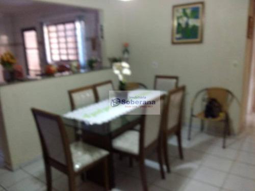casa com 2 dormitórios à venda, 100 m² por r$ 330.000 - vila padre manoel de nóbrega - campinas/sp - ca3403