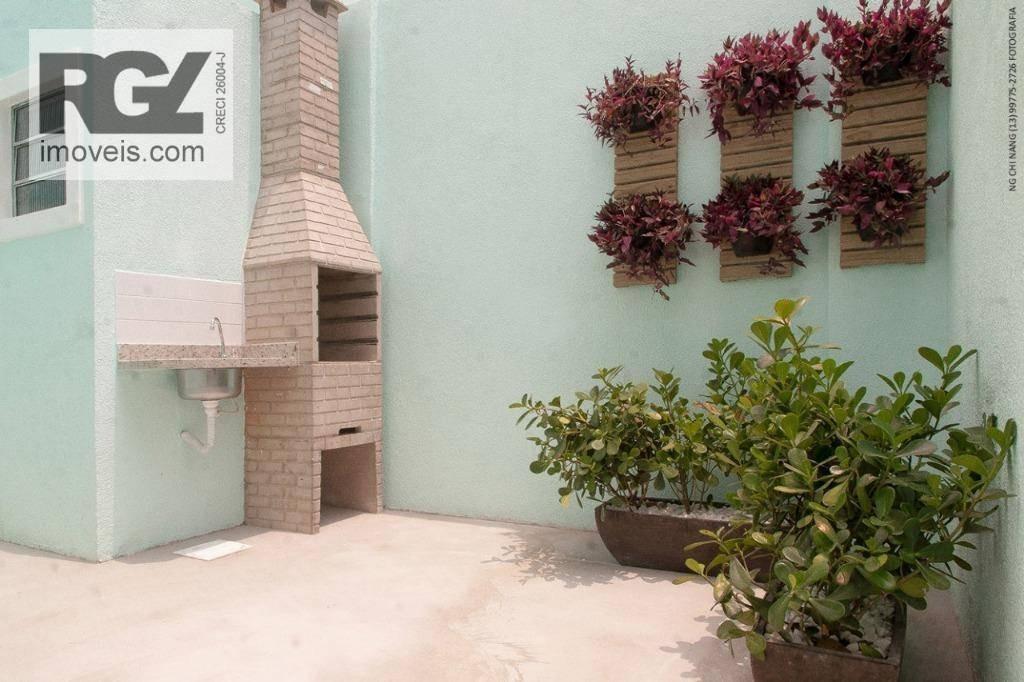 casa com 2 dormitórios à venda, 120 m² por r$ 435.000 - macuco - santos/sp - ca0549