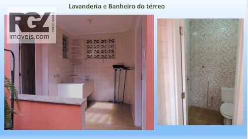 casa com 2 dormitórios à venda, 138 m² por r$ 650.000 - marapé - santos/sp - ca0647