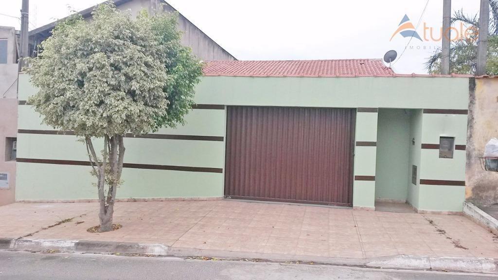 casa com 2 dormitórios à venda, 173 m² por r$ 360.000,00 - parque bom retiro - paulínia/sp - ca3903