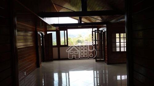 casa com 2 dormitórios à venda, 210 m² por r$ 350.000 - baldeador - niterói/rj - ca0322