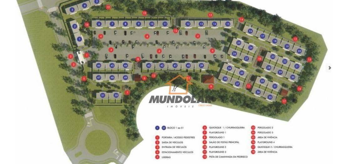 casa com 2 dormitórios à venda, 42 m² por r$ 143.588 - costeira - araucária/pr - ca1546