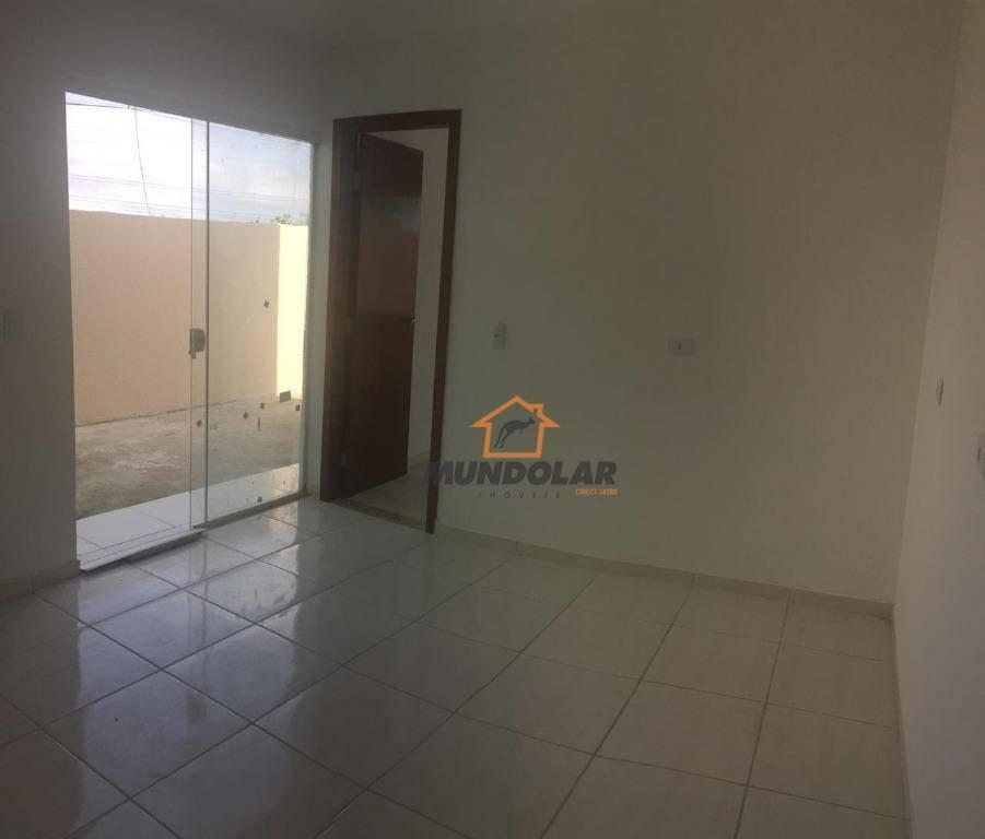 casa com 2 dormitórios à venda, 42 m² por r$ 180.000 - campina da barra - araucária/pr - ca1581