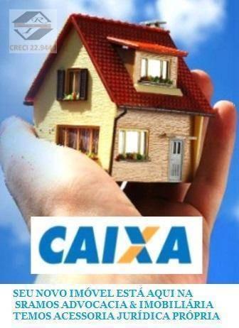 casa com 2 dormitórios à venda, 43 m² por r$ 56.664,01 -  andradina - castilho/sp - ca3317