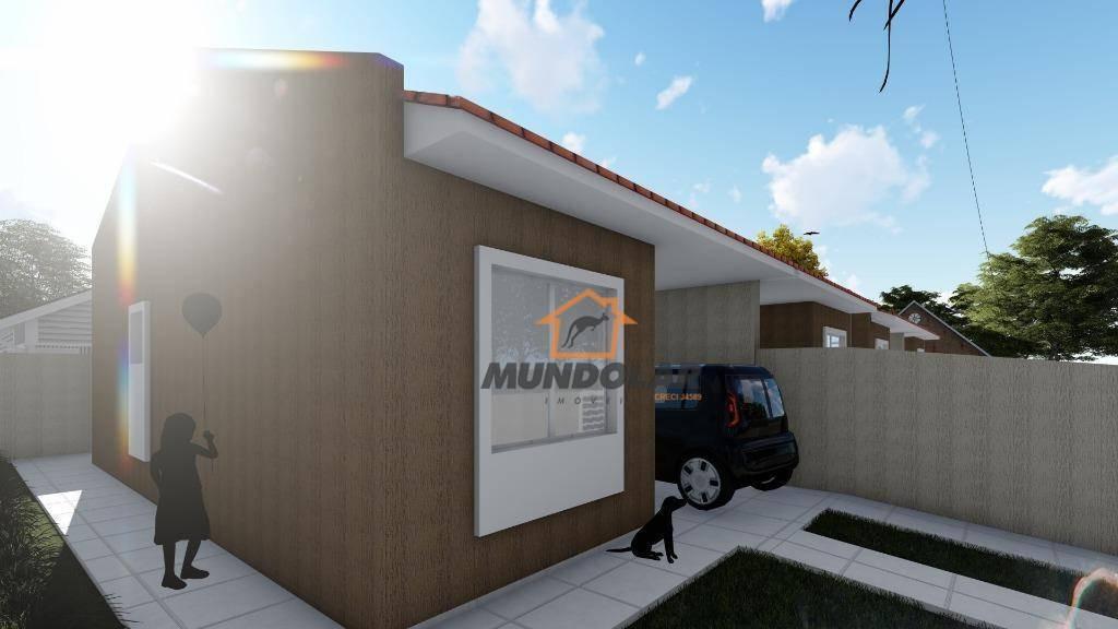 casa com 2 dormitórios à venda, 53 m² por r$ 200.000,00 - passauna - araucária/pr - ca1564