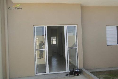 casa com 2 dormitórios à venda, 54 m² por r$ 172.000 - jardim santa cruz - mogi guaçu/sp - ca1466