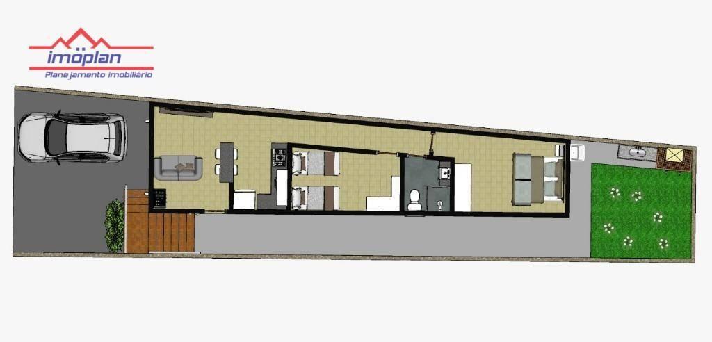 casa com 2 dormitórios à venda, 54 m² por r$ 195.000 - jardim santo antônio - atibaia/sp - ca3688