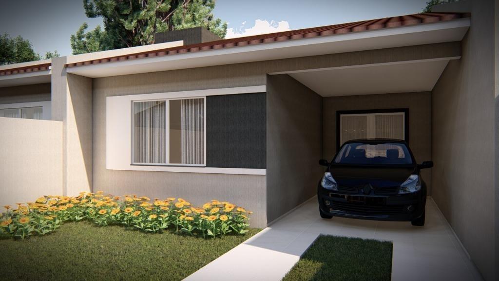 casa com 2 dormitórios à venda, 57 m² por r$ 190.000,00 - tindiquera - araucária/pr - ca1522
