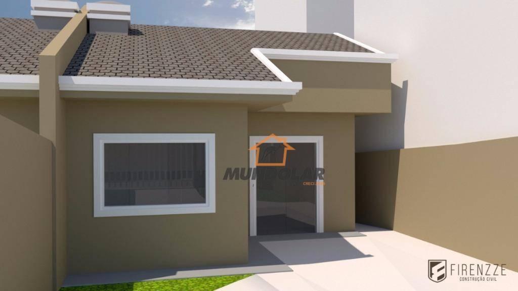 casa com 2 dormitórios à venda, 58 m² por r$ 225.000,00 - capela velha - araucária/pr - ca1539