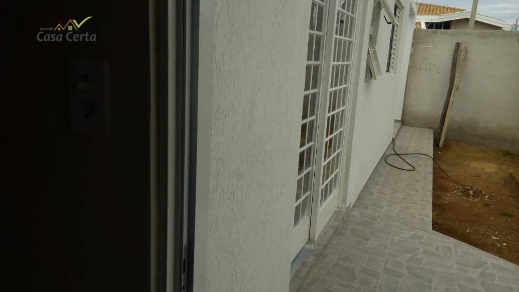 casa com 2 dormitórios à venda, 59 m² por r$ 200.000 - jardim santa cruz - mogi guaçu/sp - ca1140