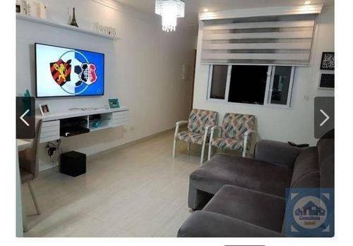 casa com 2 dormitórios à venda, 66 m² por r$ 252.000,00 - vila voturua - são vicente/sp - ca0708