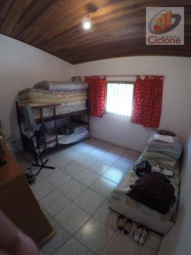 casa com 2 dormitórios à venda, 70 m² por r$ 150.000 - jardim cibratel - itanhaém/sp - ca0607