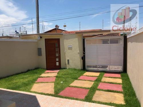 casa com 2 dormitórios à venda, 70 m² por r$ 269.000 - cibratel ii - itanhaém/sp - ca0618