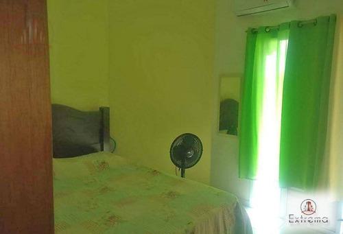 casa com 2 dormitórios à venda, 71 m² por r$  - tude bastos (sítio do campo) - praia grande/sp - ca0055