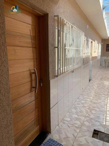 casa com 2 dormitórios à venda, 84 m² por r$ 245.000 - campo da aviação - praia grande/sp - ca1161
