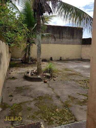 casa com 2 dormitórios à venda, 85 m² por r$ 200.000 - balneário itaguaí - mongaguá/sp lote grande inteiro próximo a praia e comércio pronta p morar - ca3244