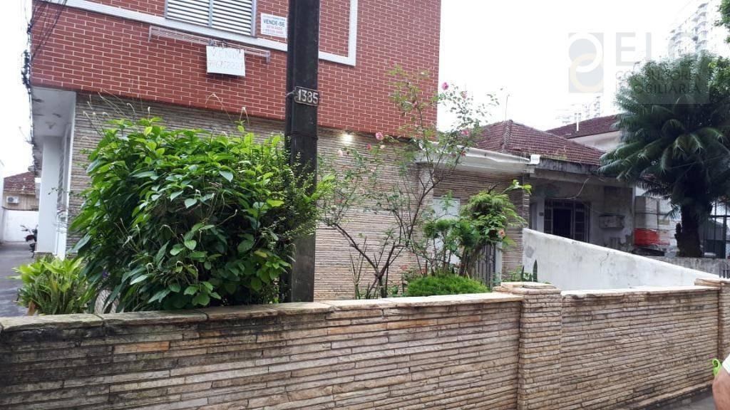 casa com 2 dormitórios à venda, 97 m² por r$ 330.000 - marapé - santos/sp - ca0344