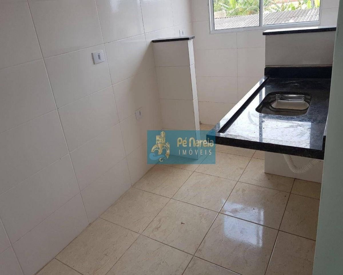 casa com 2 dormitórios à venda por r$ 135.000 - jardim melvi - praia grande/sp - ca0076