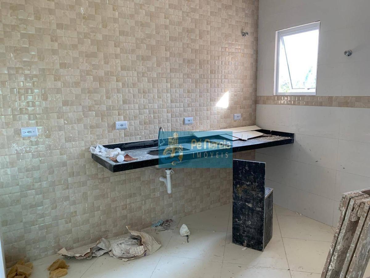 casa com 2 dormitórios à venda por r$ 165.000 - jardim melvi - praia grande/sp - ca0066